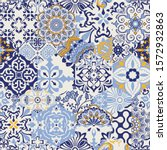 azulejos tiles patchwork.... | Shutterstock .eps vector #1572932863