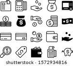 currency vector icon set such... | Shutterstock .eps vector #1572934816
