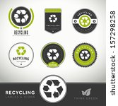 quality set of recycling labels ... | Shutterstock .eps vector #157298258