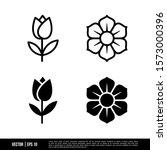 the best flower icons vector... | Shutterstock .eps vector #1573000396