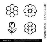 the best flower icons vector... | Shutterstock .eps vector #1573013239