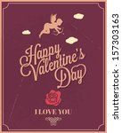 holiday frame happy valentines...   Shutterstock .eps vector #157303163