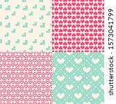 valentine's day patterns. set... | Shutterstock .eps vector #1573041799