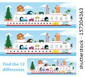 kids puzzle ship to spot the 12 ... | Shutterstock . vector #157304363