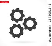 settings isolated vector icon.    Shutterstock .eps vector #1573051543
