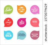 retro vintage labels and... | Shutterstock . vector #1573079629