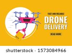 delivery service concept.... | Shutterstock .eps vector #1573084966