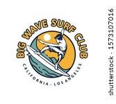 big wave surf club. t shirt... | Shutterstock .eps vector #1573107016