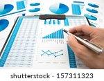 business graph analysis report. ... | Shutterstock . vector #157311323