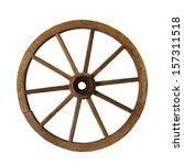 Vintage Wagon Wheel Isolated O...
