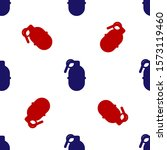 blue and red hand grenade icon...   Shutterstock .eps vector #1573119460