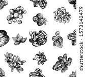seamless pattern of hand drawn... | Shutterstock .eps vector #1573142479