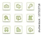 real estate web icons  white... | Shutterstock .eps vector #157315718