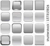 set of blank grey square... | Shutterstock .eps vector #157315826