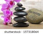japan zen garden with stacked... | Shutterstock . vector #157318064