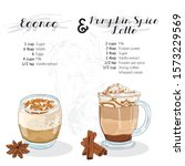 hand drawn colorful eggnog and...   Shutterstock .eps vector #1573229569