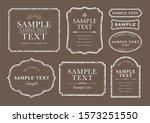 rough white elegant frame set | Shutterstock .eps vector #1573251550