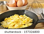 Scrambled Eggs With Brown Egg...
