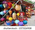 lantern shops in hoi an  vietnam
