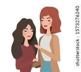 cute women cartoons drawing...   Shutterstock .eps vector #1573276240
