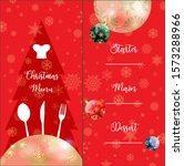 special christmas festive menu... | Shutterstock . vector #1573288966