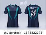 t shirt sport design template ... | Shutterstock .eps vector #1573322173