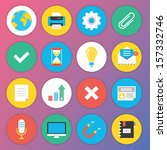 trendy premium flat icons for... | Shutterstock .eps vector #157332746