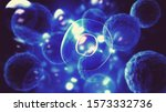 Virus Cells Or Bacteria On...