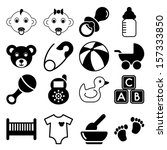 baby icons | Shutterstock .eps vector #157333850