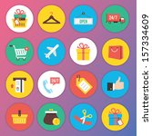 trendy premium flat icons for...