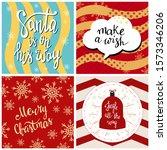 set of merry christmas greeting ... | Shutterstock .eps vector #1573346206