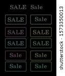 sale. chalked lettering on... | Shutterstock . vector #1573350013