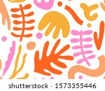 hand drawn tropical jungle... | Shutterstock .eps vector #1573355446