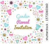 gender reveal template. gender...   Shutterstock .eps vector #1573360360