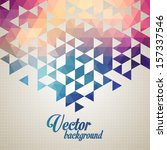 abstract  geometric backgrounds.   Shutterstock .eps vector #157337546