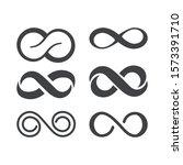 infinity symbol. vector logos... | Shutterstock .eps vector #1573391710