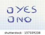 page with writing yes or no  in ... | Shutterstock . vector #157339238