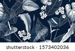 floral seamless pattern ... | Shutterstock .eps vector #1573402036