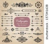 calligraphic design elements... | Shutterstock .eps vector #157341638
