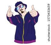 vector illustration of a cool... | Shutterstock .eps vector #1573433659