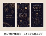 a set of greeting card with... | Shutterstock .eps vector #1573436839