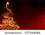 xmas greeting card  abstract... | Shutterstock . vector #157344086