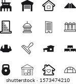 building vector icon set such...
