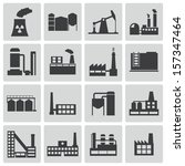 vector black factory icons set | Shutterstock .eps vector #157347464