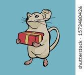 pose rat brown vector image...   Shutterstock .eps vector #1573480426