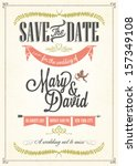 save the date  wedding... | Shutterstock .eps vector #157349108