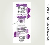 wedding menu  template design... | Shutterstock .eps vector #157351658