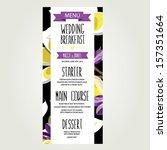 wedding menu  template design... | Shutterstock .eps vector #157351664