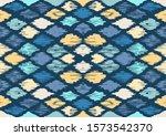 ikat geometric folklore... | Shutterstock .eps vector #1573542370