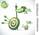 arrow hitting directly in bulls ... | Shutterstock .eps vector #157356320